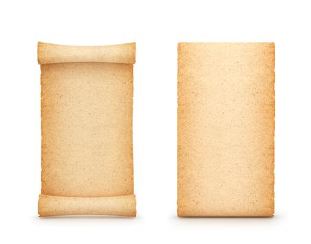 scrolling, old paper. 3d illustration Reklamní fotografie - 96874257