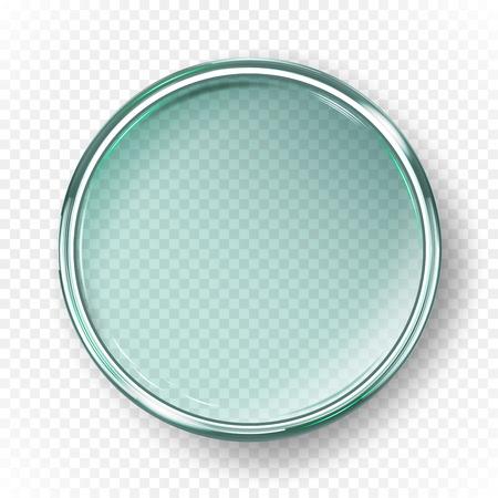 Empty petri dish isolated on transparent background Vector illustration.