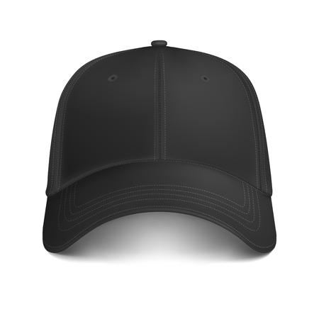 Vector Black Mock-up City Cap Front