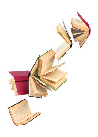 old falling books