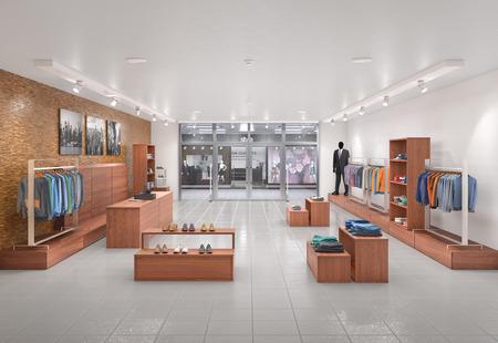Store interior. 3d illustration Banco de Imagens - 101848205