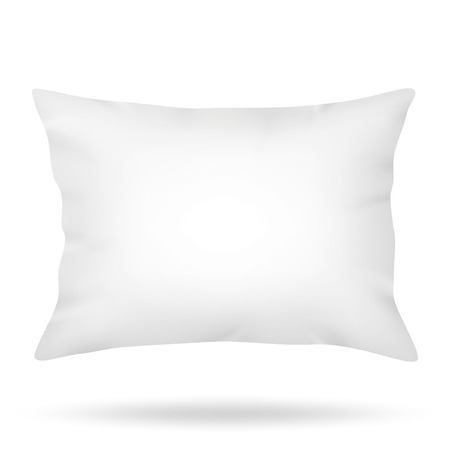 Blank pillow isolated on white background