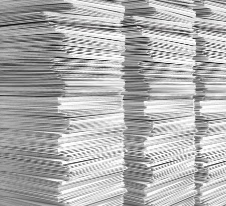 stack of clean, white paper. 3d illustration Banque d'images