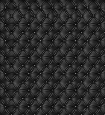 Vector. Black sofa. Upholstery Seamless Pattern. Ilustracje wektorowe