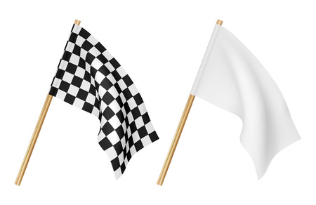 Finish flags isolated on a white background Illustration