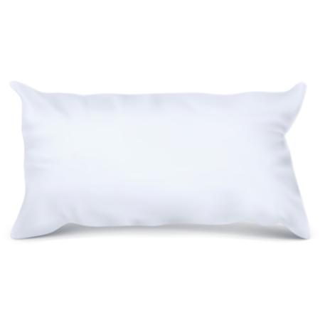 Vector. Mock Up. White Pillow Rectangle Stock Photo