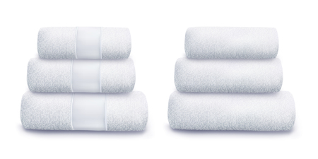 Vector. Mock Up. White Towel Ilustracje wektorowe