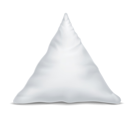 Vector. Mock Up. White Pillow Triangle
