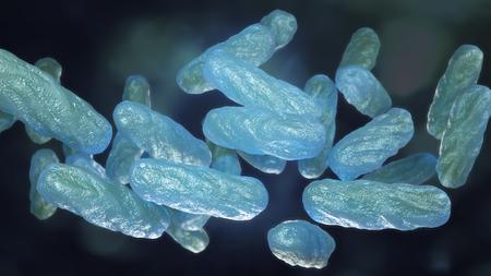 Bacterial infection macro 3d illustration Banco de Imagens