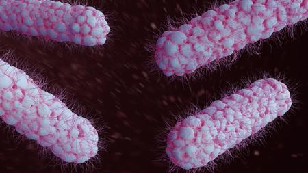 Bifidobacterium bacterium 3d illustration