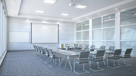 Conference room interior. 3d illustration