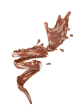 Tornado of chocolate. 3d illustration Foto de archivo - 115640977