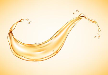 Oil splash isolated. Realistic vector illustration Ilustracja