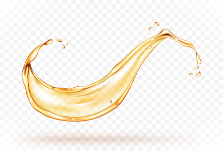 Oil splash isolated on transparent background. Realistic vector illustration Illustration