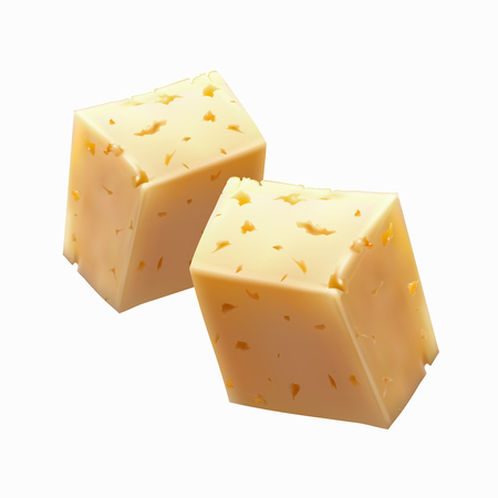 O pieces of cheese vector illustration Ilustração