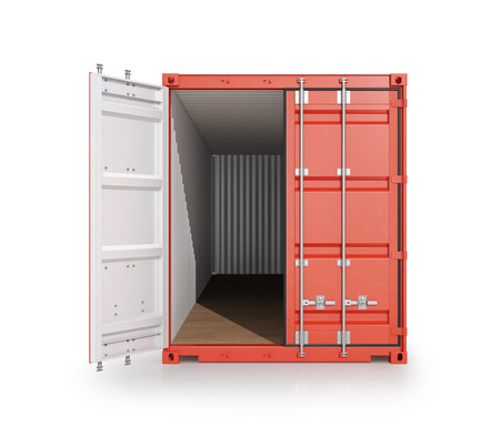 shipping container.  3d illustrations
