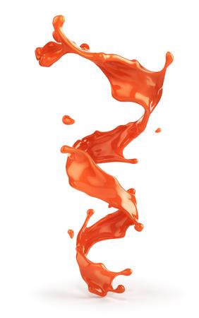 Splash of tomato juice. 3d illustration Banco de Imagens - 123545999