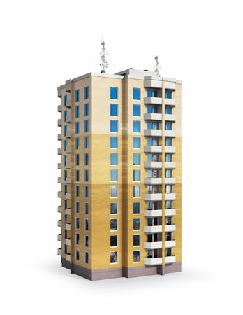 High-rise.  House. 3d illustration Stock Photo