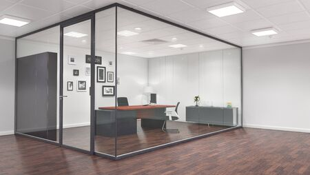 Office and meeting room interior. 3d illustration