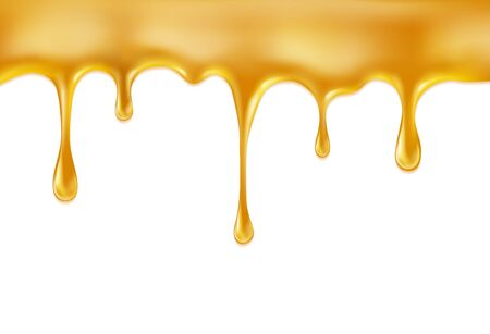 Süßer Honig lokalisiert auf weißem Hintergrund