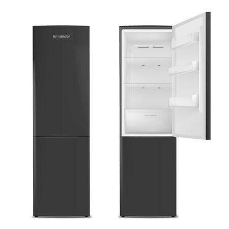 Deux réfrigérateurs. Illustration vectorielle Vecteurs