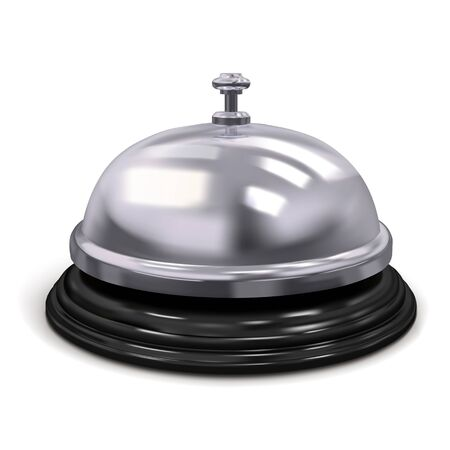 Hotel service bell silver color. Vector illustration isolated on white background Stock fotó - 128241955