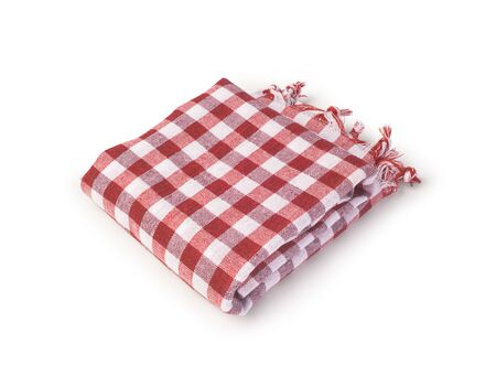 red fabric table clothe isolated
