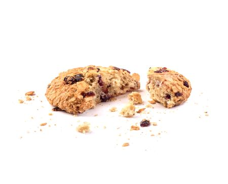 broken cookie for two halfs isolated
