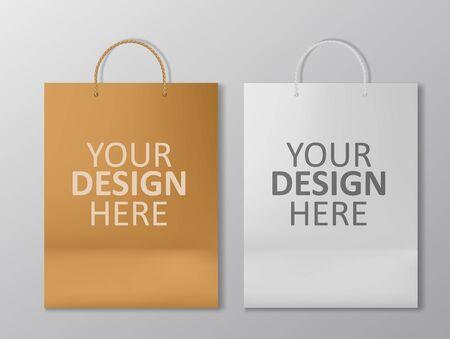 Realistic Shopping Bag Mockup Stock Illustratie