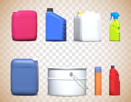 Different bottles. Vector illustration. Stock Illustratie