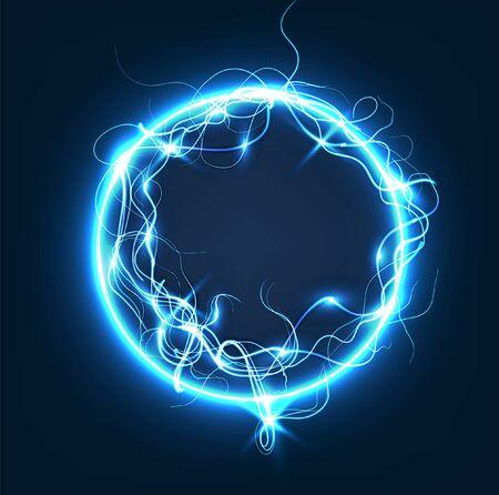 sphere lightning light background vector illustration