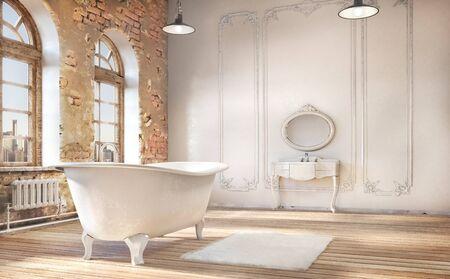 Bathroom, 3d illustration 写真素材