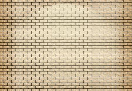 Light brick wall. Vector illustration.