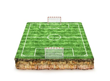 Football, soccer pitch. 3D Rendering Banque d'images - 131244247