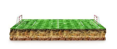Football, soccer pitch. 3D Rendering Banque d'images - 131244250