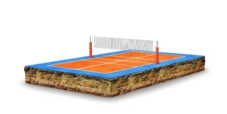 volleyball court, field. 3d illustration Banque d'images - 131244258