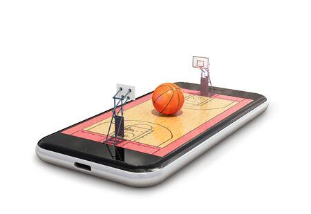 basketball. basketball playground. 3D rendering 写真素材
