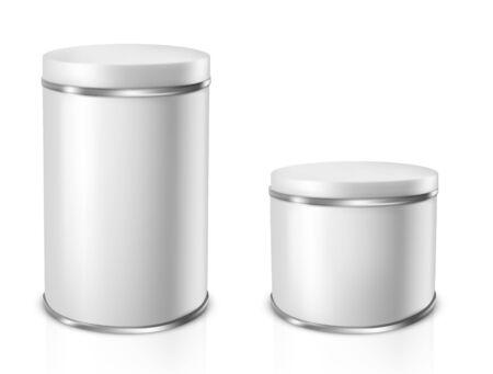 Tin Cans. Vector illustration Ilustracja