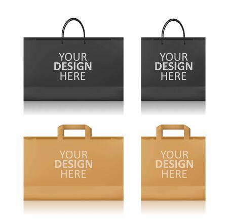 Realistic Shopping Bag Mockup Ilustracja