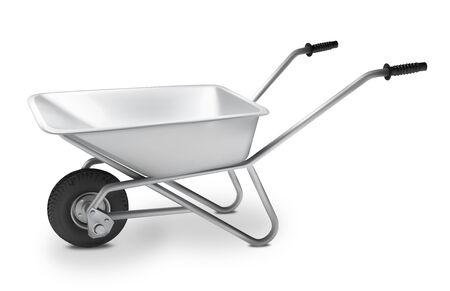 metal wheelbarrow for construction. Vector illustration. Vetores