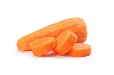 Peeled and chopped carrots Stock Photo