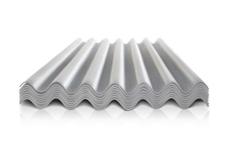 Corrugated Roofing. Vector illustration on a white background.