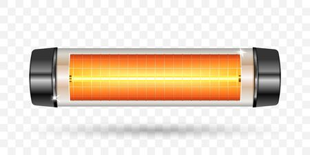 Modern electric infrared heater. Vector Illustration.