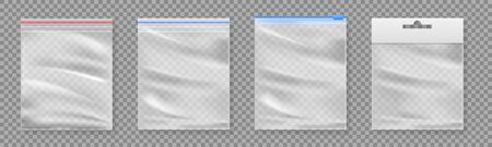 Bolsa de plástico aislada sobre fondo transparente.