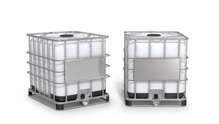 Container. White water tank isolated on white background. 3d illustration