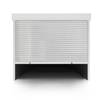 white garage door. vector illustration