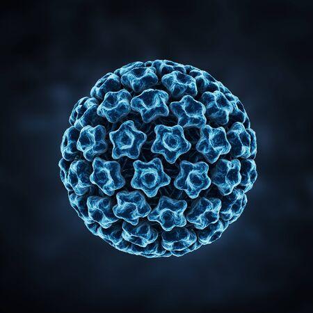 PaPilloma virus on a dark