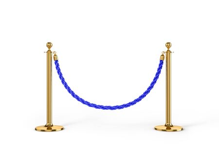 Rope fencing isolated on a white