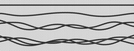 Realistic electrical wires flexible network.