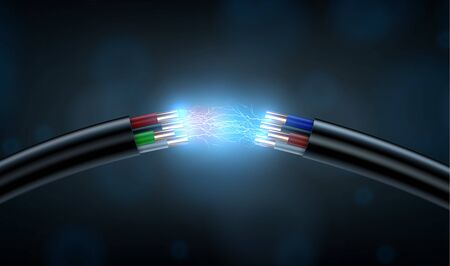 Electric cable break